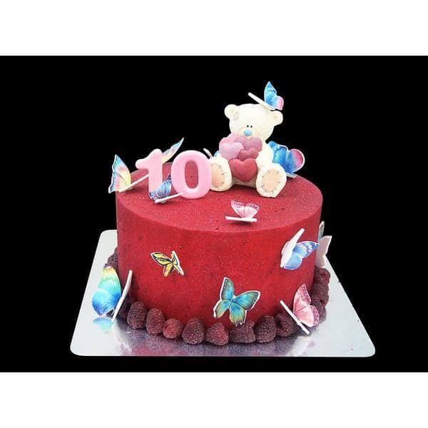 Торт Мишка и бабочки