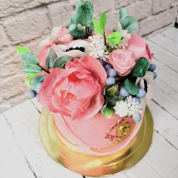 """Торт """"Цветочная коробка"""""""