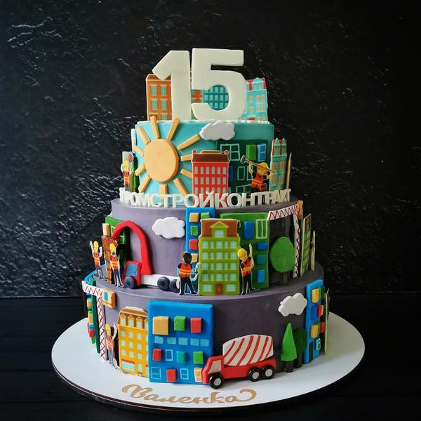 Торт строителям