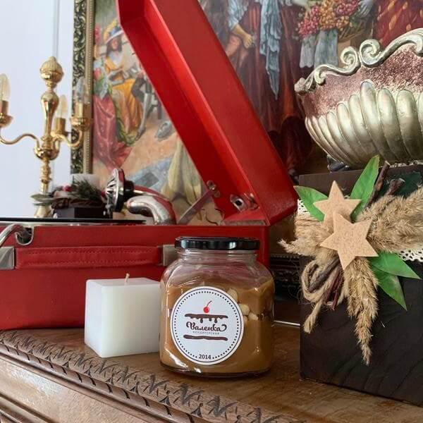 Соленая карамель с фундуком в банке
