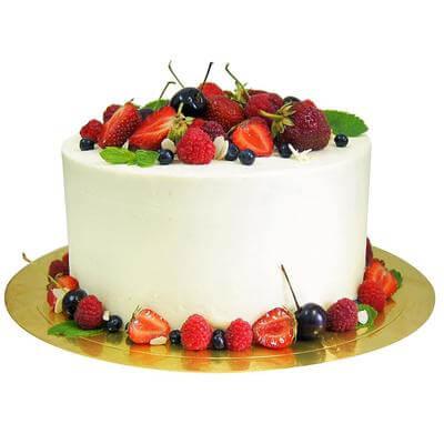 Торт Кремовый с фруктами