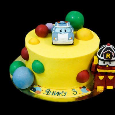 Торт из мультика робокар Полли