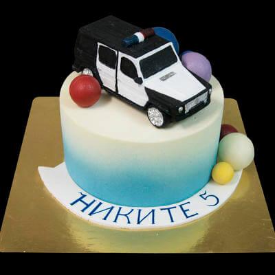Торт с полицейской машинкой