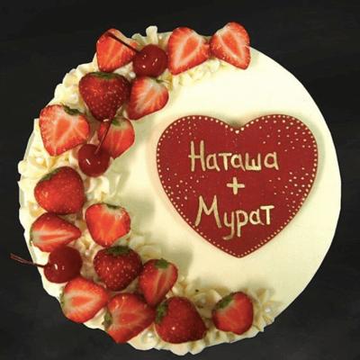 Торт с Сердечками для пары