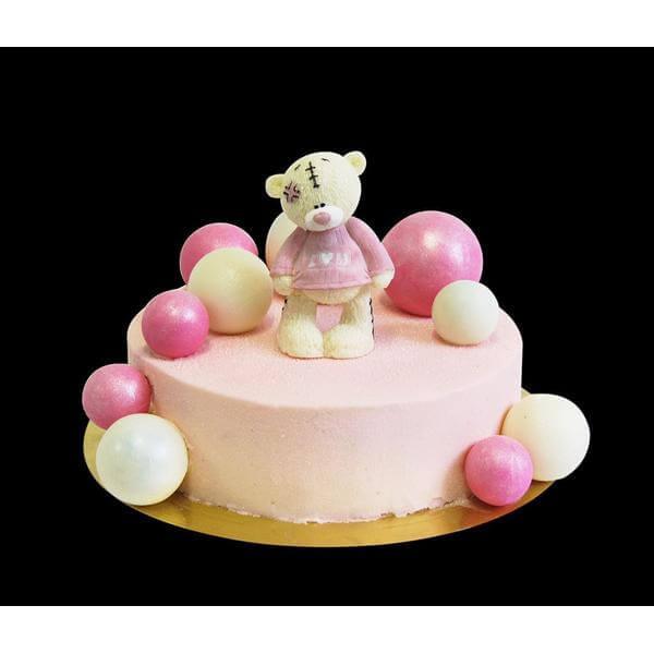Торт Розовый Тедди