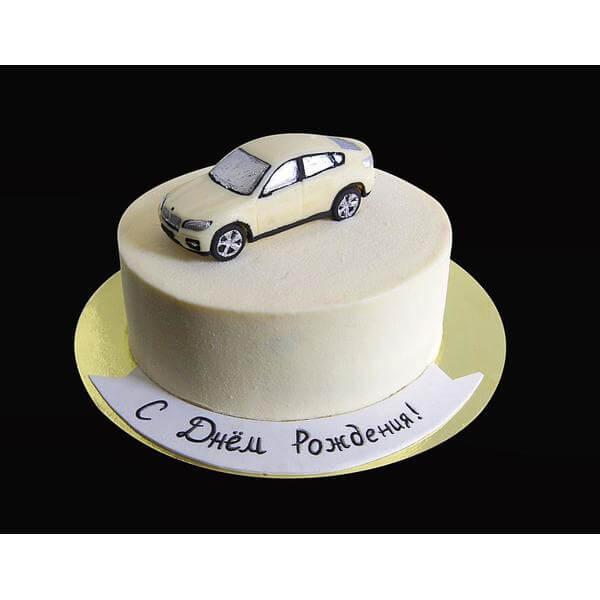 Торт Белая BMW