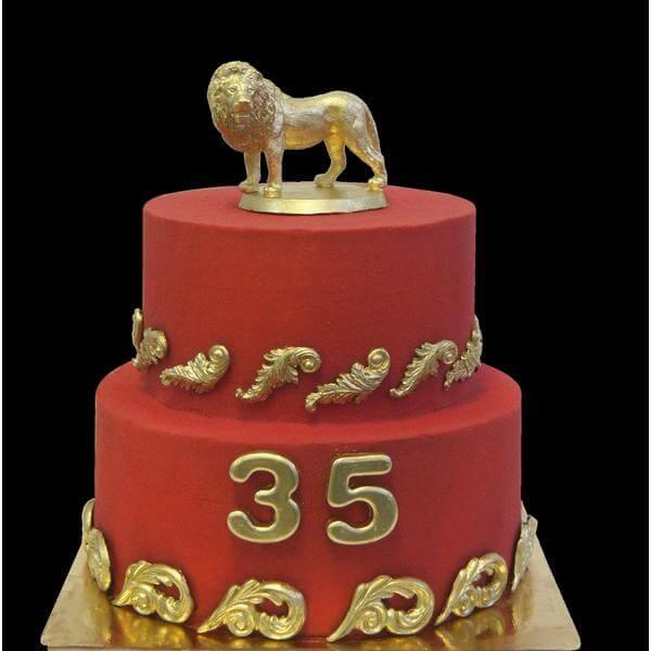 Торт Золотой лев