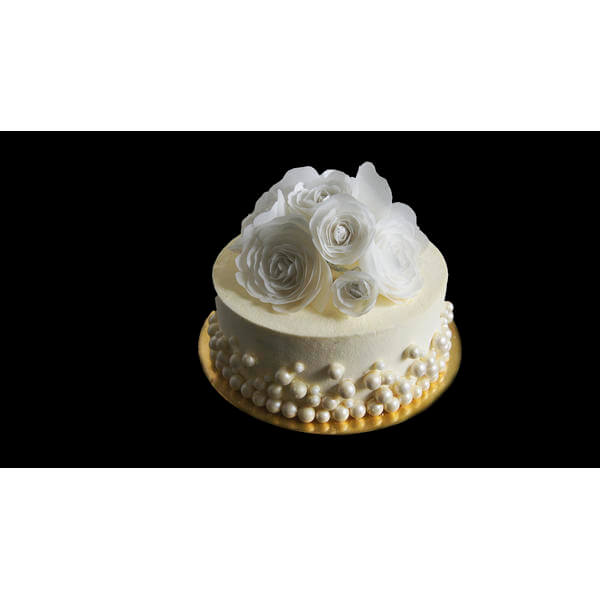 Нежный торт с Вафельными розами