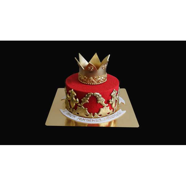 Торт с короной и вензелями