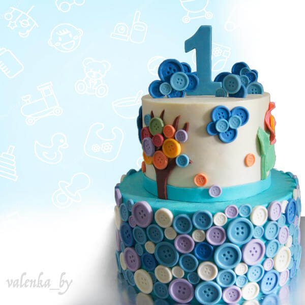 Детский торт Пуговки
