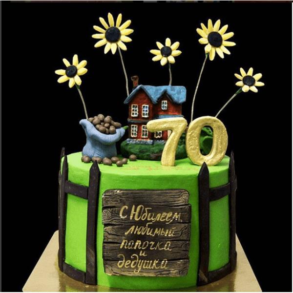 Торт с Деревенским домом